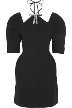 Marni - Cutout Embellished Bonded-jersey Mini Dress - Black - IT
