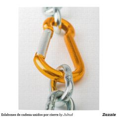 Gold and silver shiny chain clip jigsaw puzzle