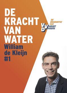 Poster lijsttrekker VVD Aa en Maas met foto