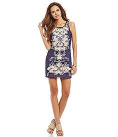 Gianni Bini Fan Fave Evelyn Embroidered Chiffon Dress #Dillards
