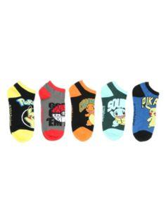 Pokemon Starters No-Show Socks 5 Pair (Hot Topic)