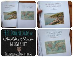 Free downloads of Charlotte Mason Geography (Elementary Geography and Long's Home Geography)