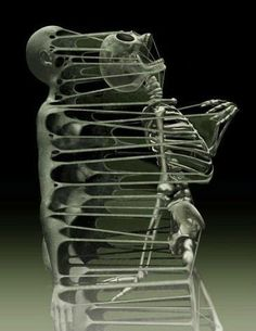 Skeletal skin. (This would be a good ad for people with chronic pain.)