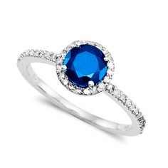 Blue Diamond Engagement Rings | Engagement Ring – Blue Sapphire and Diamond Ring « Wedding Fashion
