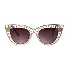 Quay Eyeware Steel Cat Sunglasses (50 AUD) ❤ liked on Polyvore featuring accessories, eyewear, sunglasses, glasses, steel sunglasses, cateye glasses, black sunglasses, quay sunglasses and cat-eye sunglasses