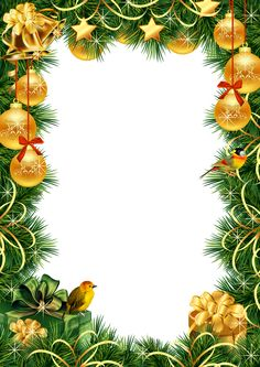 Christmas Transparent PNG Photo Frame with Gold Christmas Balls Christmas Border, Christmas Frames, Noel Christmas, Christmas Background, Christmas Paper, Christmas Wallpaper, Christmas Balls, Christmas Photos, Vintage Christmas