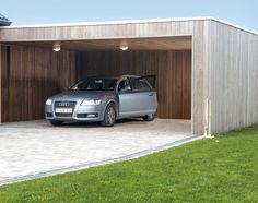 moderne carport met strakke duurzame gevelbekleding