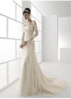 Stunning Lace A Line Square Neckline Wedding Dress Mucho Encaje