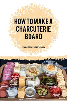 How to Make a Charcuterie Board Charcuterie Recipes, Charcuterie And Cheese Board, Charcuterie Platter, Cheese Boards, Elegant Appetizers, Appetizers For Party, Appetizer Recipes, Meat Appetizers, Christmas Appetizers