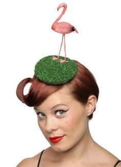 Flamingo hat.For when you just can't leave them in front of the trailer.