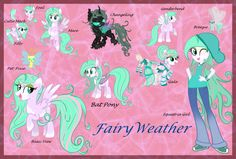 Fairy Weather Reference Sheet by Kazziepones on DeviantArt