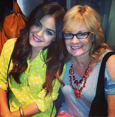 """YAY mommmmma"" -photo lucyhale Instagram (I spy mark's Style Goddess Necklace on Lucy's mom!)"