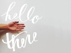 """Hello There"" Handwritten Script #Typography"