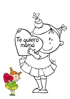 Maestra de Infantil: Tarjetas para colorear en el día de la madre Mothers Day Crafts, Crafts For Kids, Coloring Books, Coloring Pages, Doodle Patterns, Classroom Fun, Gifts For Coworkers, Digi Stamps, Learning Spanish