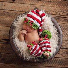 2015 mädchen Junge Neugeborenen handarbeit gehäkelt strickmütze mütze santa outfit kostüm Fotografie foto prop weihnachtsgeschenk 6-12month(China (Mainland))