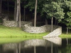 Inspiration for my property wall. [stone wall by Andy Goldsworthy at Storm King] Inspiration for my property wall. [stone wall by Andy Goldsworthy at Storm King] Land Art, Landscape Art, Landscape Architecture, Landscape Design, Andy Goldsworthy Art, Storm King Art Center, Art Public, Dry Stone, Outdoor Art
