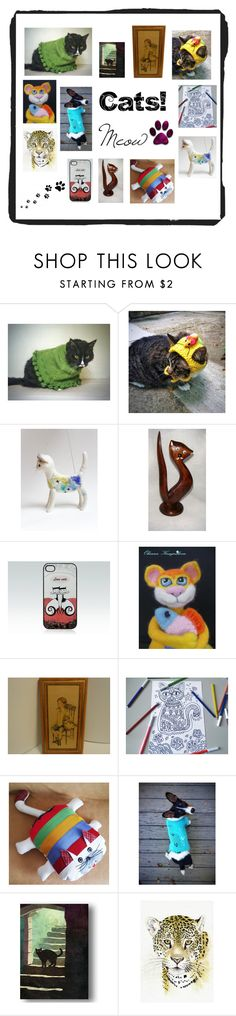 """""""Wonderful Gifts for Cat Lovers"""" by paulinemcewen ❤ liked on Polyvore"""