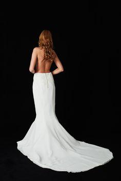 EMANUEL HENDRIK | MIX & MATCH - 2017 | BACK | SKIRT | LORENA | made in Düsseldorf - Germany | IVORY - Chiffon - Lace - Train | Long Chiffon Skirt with lace and a long train in ivory | Wedding - Destination - Beach - Festival - Wild - Party - Boho - Vintage - Barn - Glamour - Hollywood | Wedding Dress | Fashion - Bridal Couture