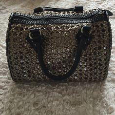HOST PICKBeautiful design weave handbag Brown weaved Boulder bag!! Street Level Bags