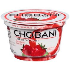 Chobani Strawberry Non-Fat Greek Yogurt, 6 oz