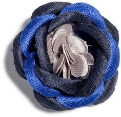 The Hook and Albert Rana Blue Lapel Flower Pin is your go-to lapel staple for all occasions, whether casual, business or formal. Lapel Flower, Buttonholes, Lapel Pins, Wardrobe Staples, Nordstrom, Satin, Flowers, Fabric, Blue