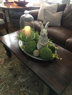 Coffee table tray I made for Spring