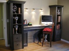 How To Build A Shelving Tower Over A Filing Cabinet