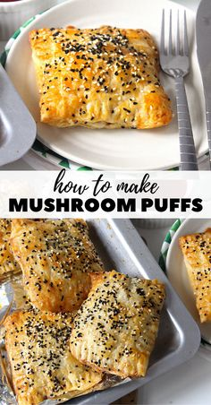 Mushroom puffs - The Twin Cooking Project by Sheenam & Muskaan Good Food, Yummy Food, Tasty, Appetizer Recipes, Appetizers, Recipes Dinner, Puff Pastry Recipes, Pastries Recipes, Puff Pastries