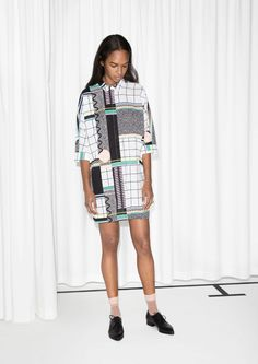 & Other Stories   Graphic Print Shirt Dress
