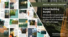 ❤️ SOCIAL MEDIA CONTENT ❤️ 🌲🌳 Forest Bathing Bundle - Whether you're a trained guide or just love the idea of Forest Bathing, share this bundle of 20 beautifully-designed images about the practice of Forest Bathing and its benefits. #ForestBathing