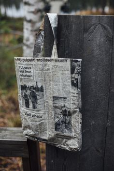Lehtikassi / Newspaper Tote (15 €) Newspaper, Messenger Bag, Satchel, Bags, Products, Handbags, Journaling File System, Crossbody Bag, Bag