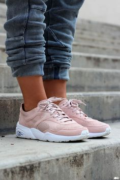puma trinomic rose et grise