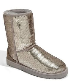 silver glitter UGG boots