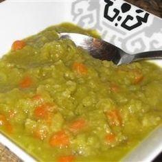 Split Pea Soup without Pork Allrecipes.com