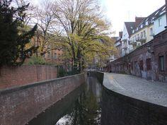 Die Düssel in Düsseldorf old town