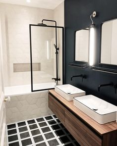 Green bathroom: complete guide to decorate this little corner - Home Fashion Trend Bad Inspiration, Bathroom Inspiration, Diy Bathroom, Master Bathroom, Shower Remodel, Place, Design Dintérieur, Cement Tiles, Bedrooms