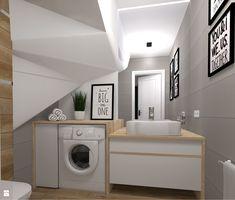 Łazienka styl Skandynawski - zdjęcie od KADA WNĘTRZA S.C - Łazienka - Styl Skandynawski - KADA WNĘTRZA S.C Malaga, Washing Machine, Home Appliances, Adidas, Bathroom, Home Decor, Quartos, House Appliances, Washroom