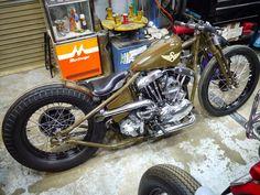 Harley Bobber #motorcycles #bobber #motos | caferacerpasion.com