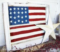 painted window ideas   10 Inspiring 4th of July Ideas - Upcycled Treasures