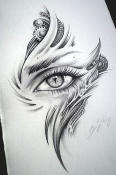Biomech Dragon Eye Dragon Child by JKingsArt on DeviantArt Art Drawings, Tattoo drawings Tattoo Design Drawings, Cool Art Drawings, Pencil Art Drawings, Art Drawings Sketches, Tattoo Designs, Tattoo Ideas, Creepy Drawings, Dragon Eye Drawing, Creepy Eyes