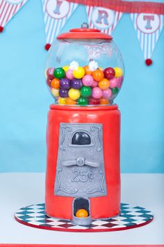 Gumball machine CAKE!!! Kara's Party Ideas
