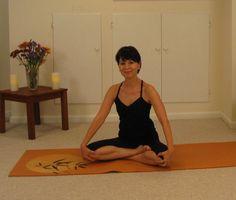 Yoga half-lotus general