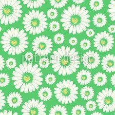 Gänseblümchenfelder Rapport by Svetlana Bataenkova at patterndesigns.com Vektor Muster, Spring Blossom, Vector Pattern, Surface Design, Patterns, Floral, Brush Strokes, Wildflowers, Vectors