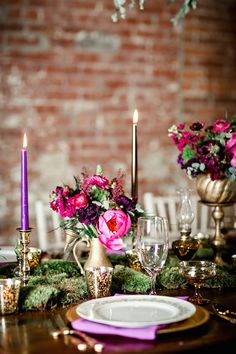 Sophisticated Elegance with Pink and Purple and Gold - www.theperfectpalette.com - Mandy Evans Photography, Abby Mitchell Events, He Loves Me Flowers