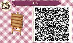 Single Wooden Dock Piece - Animal Crossing New Leaf QR