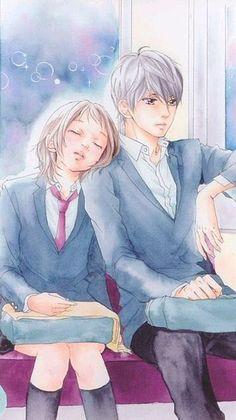 💕 Anime Ai, Manga Anime, Strobe Edge, Ao Haru, Blue Springs Ride, Manga Couple, Manga Love, Beautiful Artwork, Shoujo