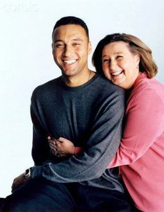 Derek Jeter with mom Dotty