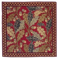 Red Acorn Cushion Traditional style tapestry kit designed by Cleopatra's Needle. Contents: 12 count colour printed tapestry canvas, Appleton wools, needle and full instructions, Approx. Needlepoint Pillows, Needlepoint Kits, Needlepoint Canvases, Embroidery Kits, Cross Stitch Embroidery, Cross Stitch Kits, Cross Stitch Patterns, Cleopatra's Needle, Tapestry Kits