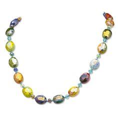 Palm Beach Jewelry PalmBeach Kaleidoscope Art Glass Necklace Color Fun