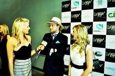 Taylor Ellison interviewing at Austin Fashion week in a black multispine stingray cuff!